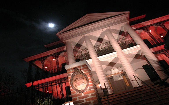 Replica of Disney's Haunted Mansion for sale by Axia Public Relations client Theme Park Connections