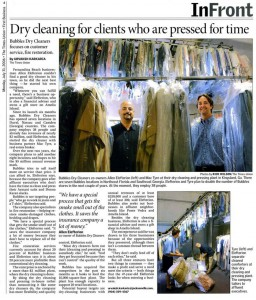 Bubbles Dry Cleaning in the Florida Times Union