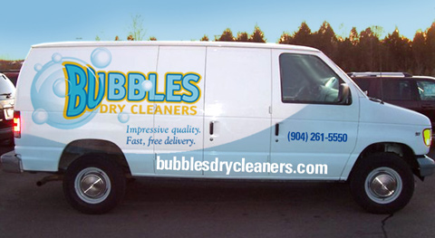 Bubbles Dry Cleaning Van