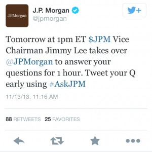Photo courtesy of Twitter and JP Morgan.