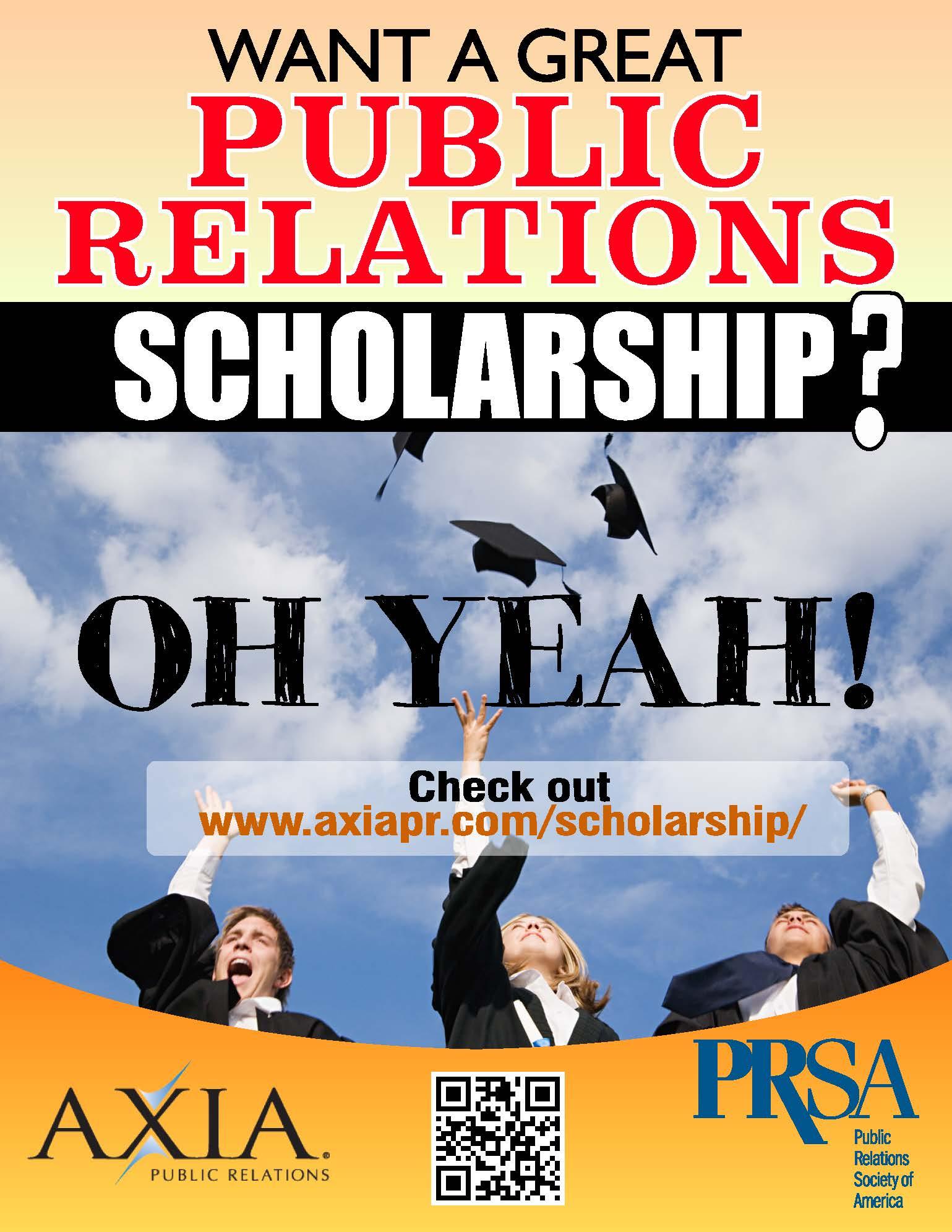 2014_Axia_Public_Relations_PR_student_Scholarship_flyer