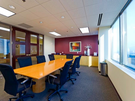 A look inside the meeting room in Axia's Atlanta office