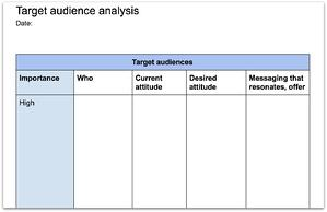 template target audiences analysis for communication strategy