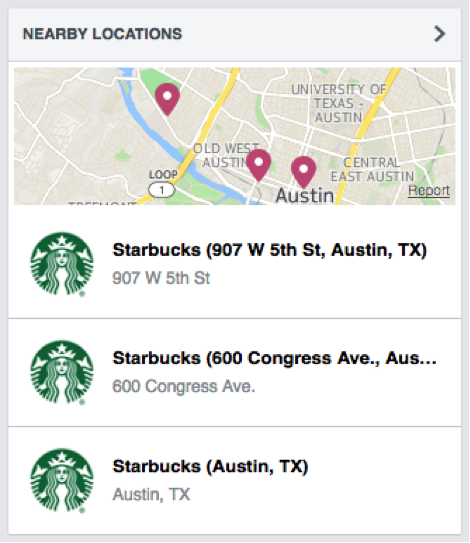 how to add location map on facebook page