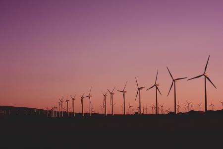 Energy generating windmills.
