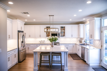 A clean kitchen inside a home.