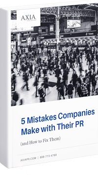 Discover 5 Mistakes Companies Make with Their PR in a free eBook