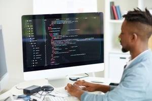 A man working on a website.