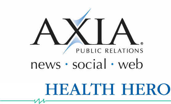 Axia and Health Hero's logos.