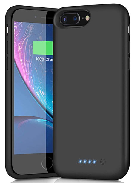 A battery charging case for a mobile phone