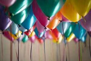 Balloons for an anniversary celebration.