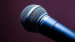 Close up on a microphone.