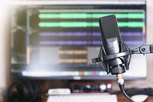 Podcasting equipment.