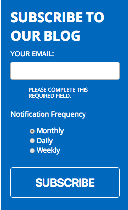 Hubspot makes subscribing to a blog easy.
