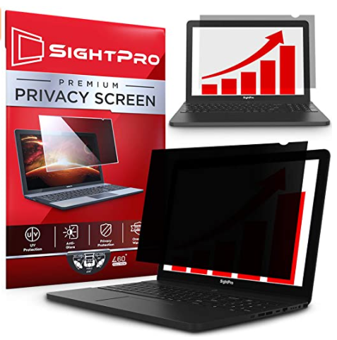 A privacy screen that can be placed on laptops