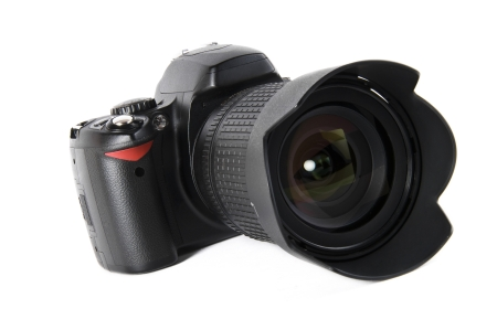 A camera for taking images.
