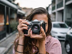 A photographer with a camera.