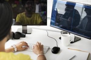 A man doing web development work.