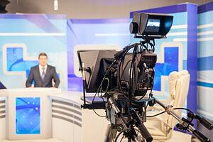 A news show being recorded.