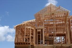 The framework of a house.