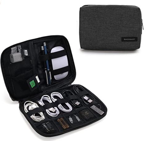 An organizer for portable electronics.