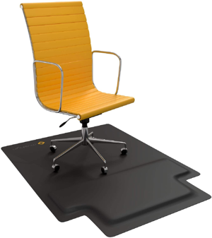 A chair mat.