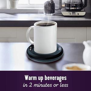A mug warmer promotion.