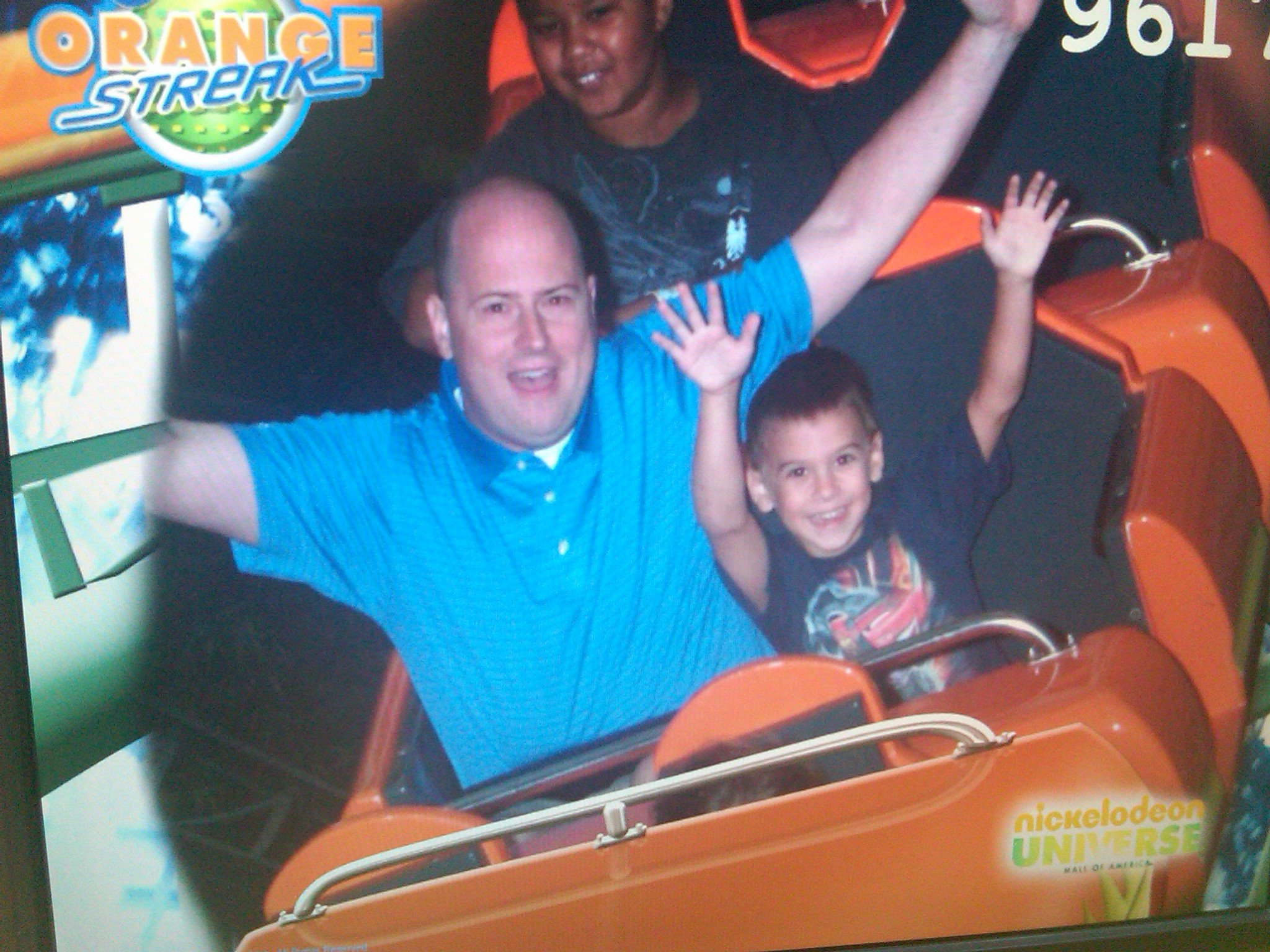 Jason Mudd on a roller coaster.