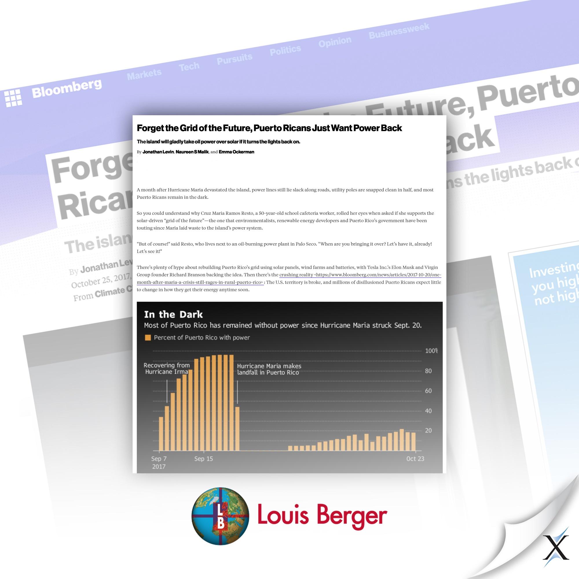 Louis Berger Bloomberg Portfolio clip