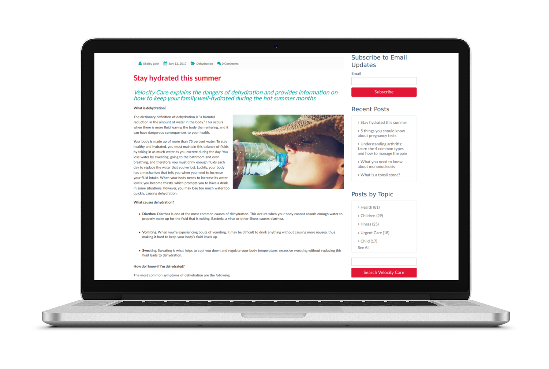 Velocitycare Blogging
